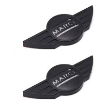 For Nissan March 2010 17 18 Side Indicator Signal Cover Matte Black Trim