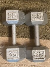 35 pound dumbells pair (70pounds Total LOCAL PICK UP ONLY)
