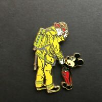 Mickey Mouse Shaking Hands with a Firefighter / Fireman Disney Pin 15331