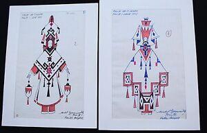 2 ORIGINAL COSTUME DRAWINGS  FOLIES BERGÈRE Gyarmathy - lot 6