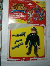 Vintage 1988 Police Academy Eugene Tackleberry Action Figure w Accessories +Card