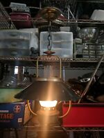 Vintage Brass Hurricane Pendant Swag Lantern Lamp Kitchen Rewired!