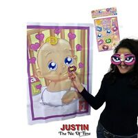 PIN THE DUMMY ON THE BABY SHOWER GAME Up to 48 Players Boy Girl Unisex Party