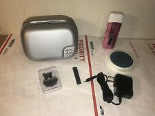 NO NO HAIR REMOVER KIT 8800 Pink with Case NEW!! As Is