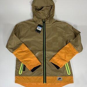 """New""Nike Shield Flash Reflective Running Jacket Windbreaker Brown Orange Med"