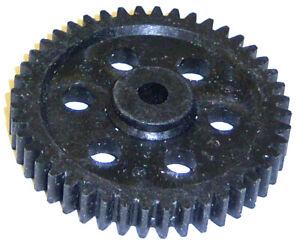 05112 RC Gearbox Main Gear 44T 44 Teeth Black Plastic x 1 1/10 Scale