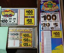 Casino Pull Tabs, 3 Different Packs, total $280 profit for all 3 games.