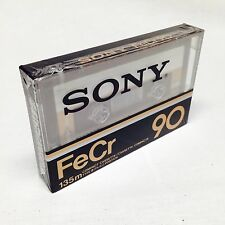 SONY FeCr 90 (1) NEW BLANK AUDIO CASSETTE TAPE Type III FerroChrome Record 90min