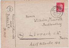 1944 Germany Dachau Concentration Camp KZ Cover Lorrach Ferdinand Maurath Priest