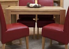 Pemberton solid oak dining room furniture small chunky dining table