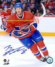 BRANDON PRUST In ACTION Auto 8x10 Photo MONTREAL CANADIENS Star WOW