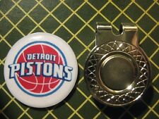 GOLF / Detroit Pistons Logo Golf Ball Marker/with Magnet Hat Clip New!!
