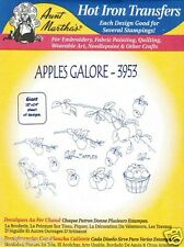 New listing Apples Galore #3953 Aunt Martha's Hot Iron Embroidery Transfer Pattern