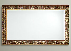 John Lewis Constantina Ornate Wall Mirror Gilt French Antique Gold Wood 117x92cm