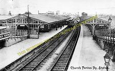 Church Fenton Railway Station Photo. Sherburn-in-Elmet - Ulleskelf. (1)