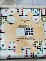 Vintage Marbleized Chickenfoot Double-Nine Professional Dominos Game 1986