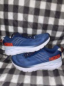 Hoka One One Clifton 6 Ensign Blue Plein Air Running Shoes Men Size 10 Wide 2E