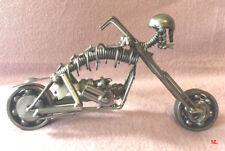 Originale moyenne moto en fer style Ghost rider tête de mort GRISE  en miniature