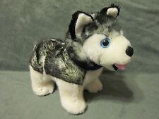 "Husky Plush Dog Puppy Arctic Circle Stuffed Animal Toy  11"" Blue Alaska Scarf"
