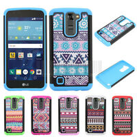 Hybrid Rugged Hard Armor Protective  Case Shockproof Cover For LG Tribute 5 K7