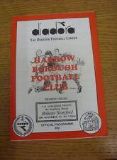 30/11/1991 Harrow Borough v Bishops Stortford [FA Trophy] .  We are pleased to b