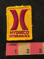 Vtg HYDRECO HYDRAULICS Advertising Patch 89XA