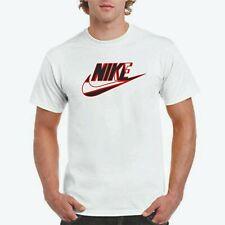 NIKE ABSTRACT LOGO T-shirt, Nike logo on Jerzees white T,