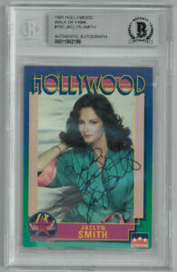 Jaclyn Smith signed Hollywood WOF Card #182 - BAS Charlie's Angels/Kelly Garrett