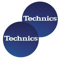 TECHNICS SLIPMATS (BLUE _ LOGO WHITE) coppia panni sottodisco x giradischi