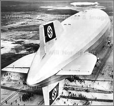 Poster Print Hindenburg & Los Angeles At Lakehurst 1936