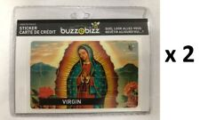 Lot 2 Stickers Autocollant Carte de Crédit Décoratif La Vierge BUZZ E BIZZ /EBEN