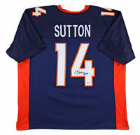 Broncos Courtland Sutton Authentic Signed Navy Jersey Autographed BAS
