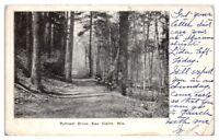 Early 1900s Putnam Drive, Eau Claire, WI Postcard