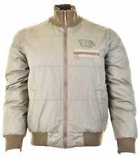LEVI'S Mens Padded Jacket Size 38 Medium Khaki Cotton  IJ15