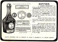 PUBBLICITA' 1923 LIQUORE BENEDICTINE D.O.M. FECAMP ABBAZIA FISCANENSIS FRANCIA