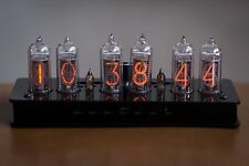 IN-14 Nixie Tube Clock Black Enclosure with Sockets for tubes (NixieShopCom)