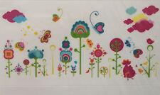 Rainbow / fleur / papillon Nursery / Enfants / fille autocollant mural chambre