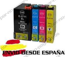 4 CARTUCHOS DE TINTA COMPATIBLE NON OEM PARA EPSON WORKFORCE WF 7610DWF T2715