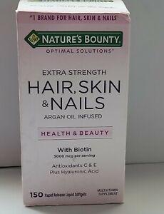 Nature's Bounty Hair, Skin & Nails Multivitamin with Biotin 150 Softgels 01/23