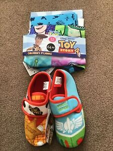 Toy Story 4 Pyjamas Age 5/6 And Slippers Size 11 New With Tags Bundle.
