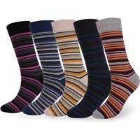 New Fashion Winter Mens Colorful Cotton Socks Warm Long Striped Dress Socks