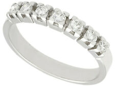 Vintage 0.75ct Diamond and 18ct White Gold Half Eternity Ring