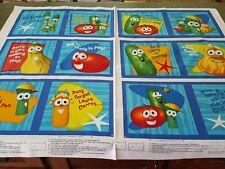 Fun With Friends Veggie Tales Cloth Book Panel 35x42 VIP Blocks Religious God