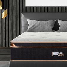 BedStory 10&12 Inch Gel Infused Memory Foam Hybrid Mattress Pocket Coils Spring