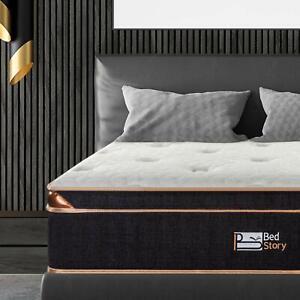 BedStory 12in FXL Size Gel Infused Memory Foam Hybrid Mattress Pocket Coils Bed