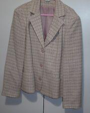 M & Co ~ Pink Bouclé style Lined Jacket ~ size UK 16