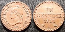 France - IIème République - 1 centime Dupré 1850 accent SUP ! - F.101/5