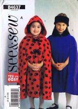 Vintage Butterick Sewing Pattern 4637 Girls Cape Poncho Size 2 3 4 5 Uncut