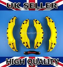 UNIVERSAL BRAKE CALIPER COVERS SET KIT FRONT & REAR YELLOW ABS 4PCS - BREMBO