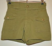 Vintage BSA Boy Scouts of America Child's Olive Green Uniform Shorts 1970s 1980s